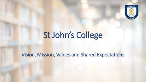 Vision, Mission, Values and Shared Expectations